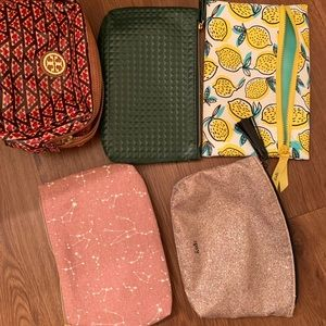 Ipsy and Tory Burch make up bags
